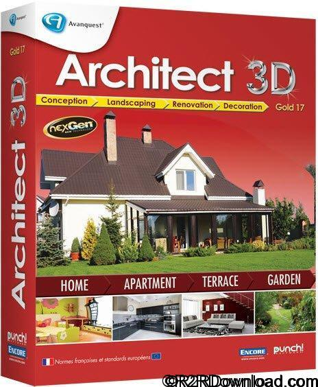 Avanquest Architect 3D Gold 2017 19.0 Free Download