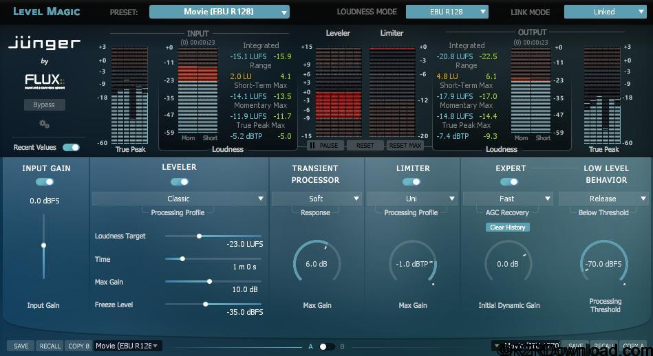 Flux Junger Audio Level Magic v3.5.29 Free Download