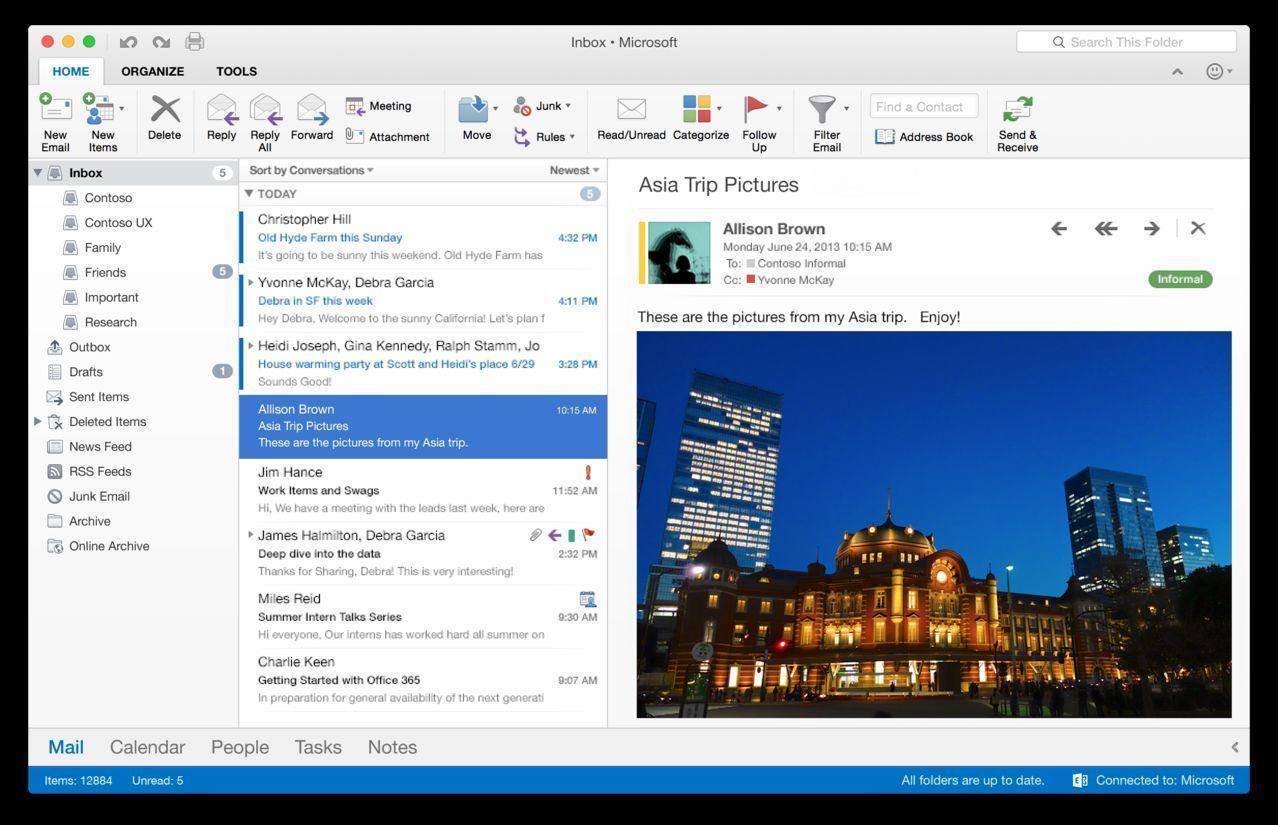 Microsoft Outlook 2016 VL v15.35.0 Free Download