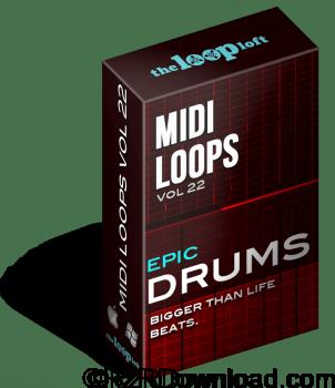 The Loop Loft Epic Drums Vol 2 MIDI Drum Loops