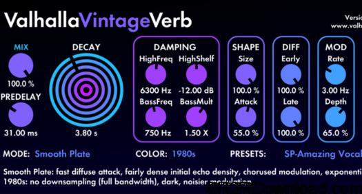 Valhalla VintageVerb 1.7.1 Mac Free Download