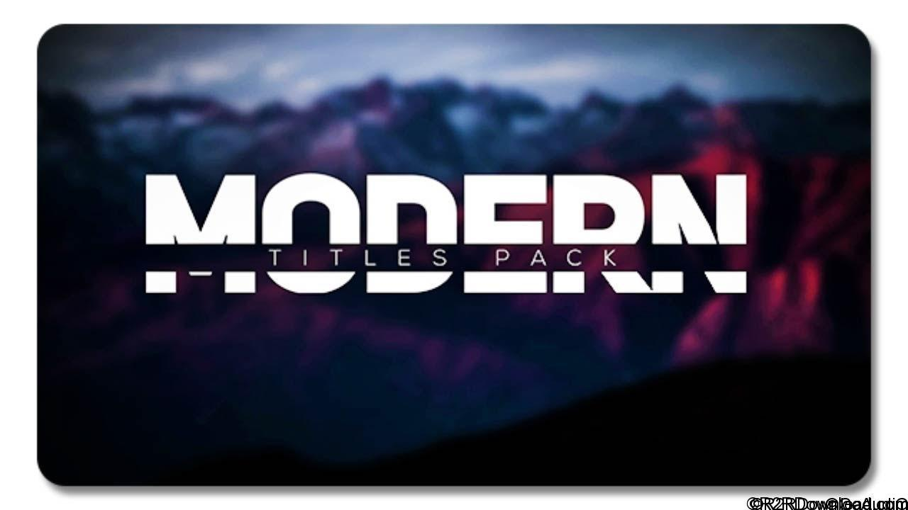 Modern Titles Pack for FCPX Free Download(Mac OS X)