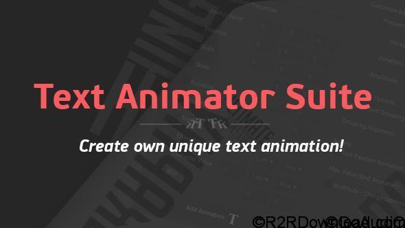 VIDEOHIVE TEXT ANIMATOR SUITE FREE DOWNLOAD