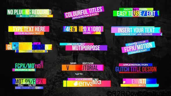 VideoHive Colourful Glitch Titles 2 Free Download