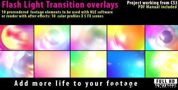 VideoHive Flash Light Transition Overlay Lense Pack Free Download