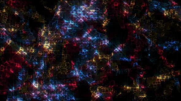 VideoHive Glowing Cubes Particles Free Download (Motion Graphics)