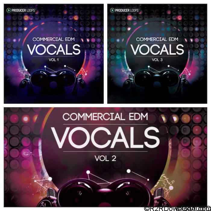 Producer Loops Commercial EDM Vocals Vol 1,2,3