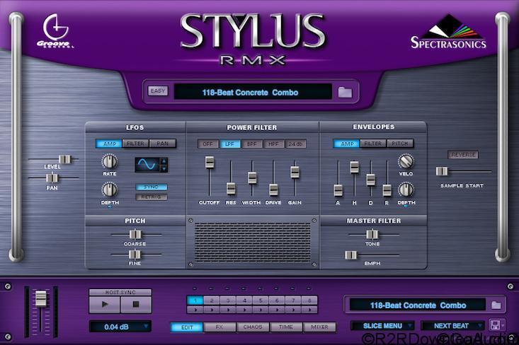 Spectrasonics Stylus RMX Software 1.9.9c2 UPDATE (WIN-MAC)