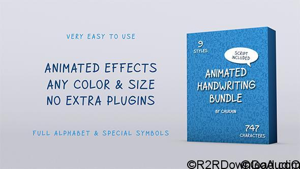 VIDEOHIVE ANIMATED HANDWRITING BUNDLE Free Download
