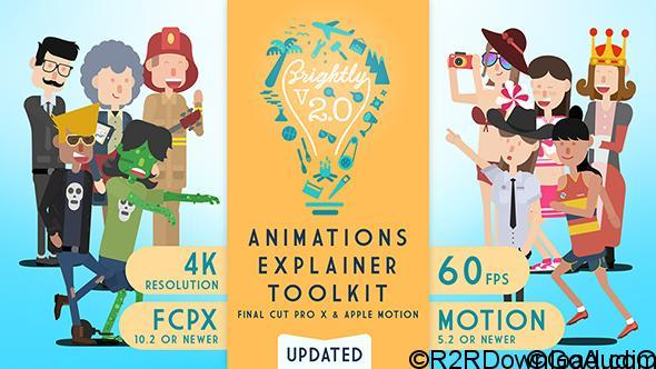 VIDEOHIVE BRIGHTLY | ANIMATIONS EXPLAINER TOOLKIT FOR FINAL CUT PRO X – APPLE MOTION TEMPLATES