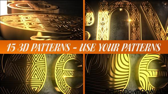 VIDEOHIVE GLARING PATTERN MAKER LOGO REVEAL Free Download