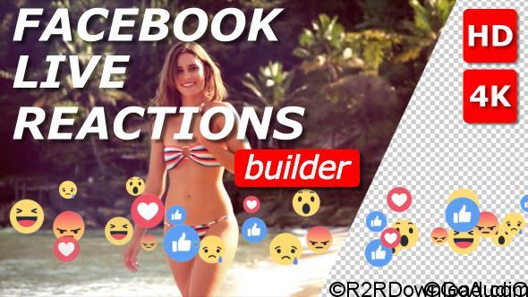Videohive Facebook Live Reactions Builder 21046656 Free Download