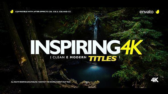 Videohive Inspiring Titles 2.0 20553195 Free Download