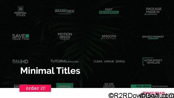 Videohive Minimal Titles 20817426 Free Download