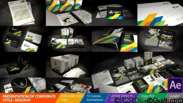Videohive Presentation of Corporate Style Mockup 19553013 Free Download
