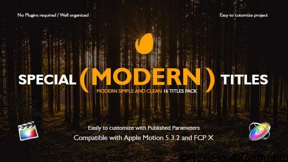 Videohive Special Modern Titles Pack for FCPX 20708205 Free Download