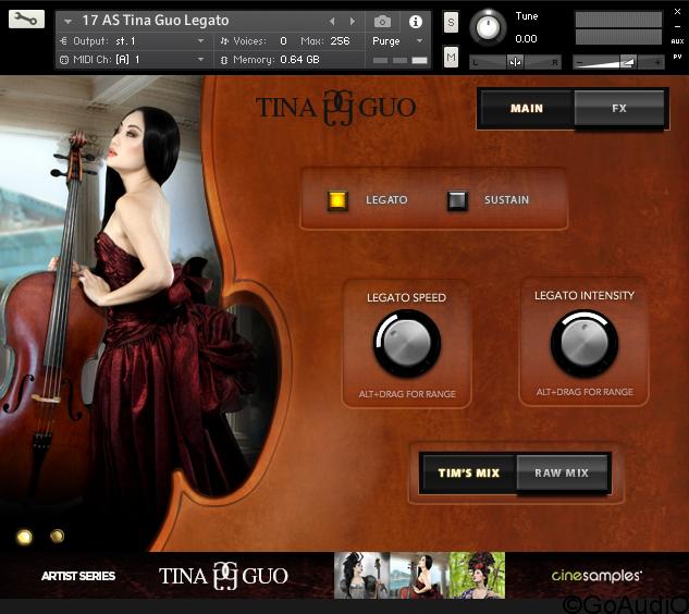 Cinesamples Tina Guo Acoustic Cello Legato KONTAKT r2r
