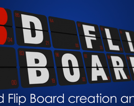 3D Flip Board v1.12.1 Plug-in for Adobe After Effects Free Download