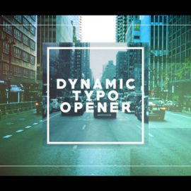 Videohive Dynamic Typo Opener 21698650 Free Download