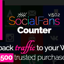 CodeCanyon – SocialFans v5.0.2 – WP Responsive Social Counter Plugin – 6217746 Free Download