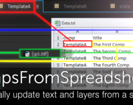 CompsFromSpreadsheet 5 v1.6 for After Effects Free Download [WIN-MAC]