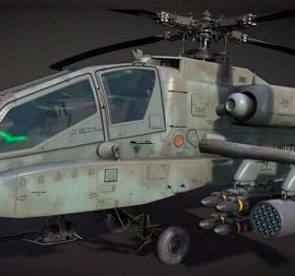 McDonnell Douglas AH-64A Apache Attack Helicopter 3D Model