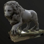 Lion sculpture 3D model Free Download
