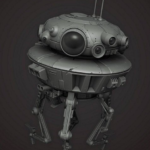 Probe Droid from Star Wars 3D Model Free Download
