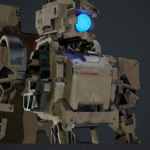 Mobile Armored Droid 3D Model Free Download