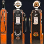 Retro Gas Pump 3D Model Free Download