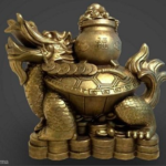 Turtle Treasure Statue 3D Model Free download