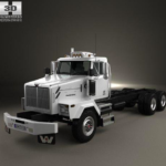 Western Star 4900 SB Day Cab Chassis Truck 2008 – 3D Model Free Download