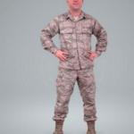 Man in uniform Scanned 3D Model Free Download