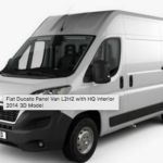 Fiat Ducato Panel Van L2H2 with HQ interior 2014 3D Model Free Download