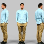 Man in casual clothes 3D Model Free Download