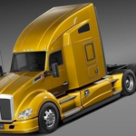 Kenworth T680 2015 Semi Truck 3D Model