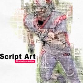 GraphicRiver – Amazing Script Art Photoshop Action Vol 2 24419871
