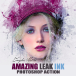 Leak Ink Photoshop Action by GMaster Free Download