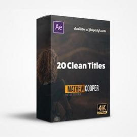 FlatPackFx – 20 Clean Titles – After Effects Free Download