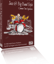 Prosonic Studios Midi Grooves Jazz & Big Band Drum Library MiDi