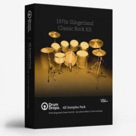 DrumDrops 1970s Slingerland Classic Rock Kit All Samples Pack MULTiFORMAT