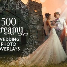 Inkydeals 500 Dreamy Wedding Photo Overlays Bundle